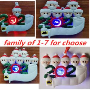 2020 Noel Karantina Süsleme Kişiselleştirilmiş Aile 1 2 3 4 5 6 7 LED Maske Tuvalet Kağıdı El Temizleyici XMAS Kilitleme Dekorasyon E101001