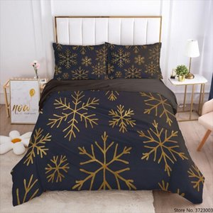 3D Christmas Printing Duvet Cover Set Red Bedding Sets Quilt Covers and Pillow Comforther Case Star Design Bed Linens 2 3PCS