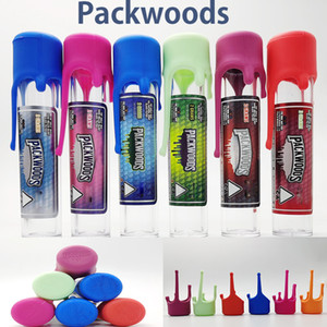 Packwoods Tube Preroll Joint Packaging Plastic Bottles Silicone Cap Tubes 118*24mm 6 Stickers Instock Dry Herb Packwoods Packaging Tubes