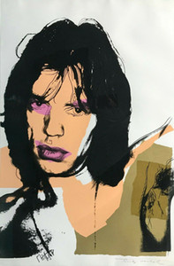 Artworks ANDY WARHOL II MICK JAGGER 1975 Home Decor Handpainted &HD Print Oil Painting On Canvas Wall Art Canvas Pictures 210115