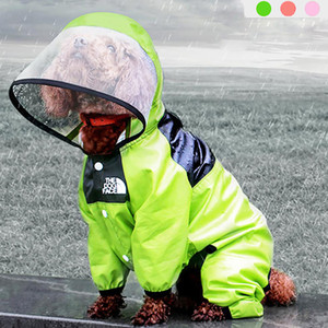 Pet Dog Raincoat Waterproof Detachable Rain Jacket Dogs Water Resistant Clothes for Dogs Fashion Patterns Pet Coat for Rainy Day