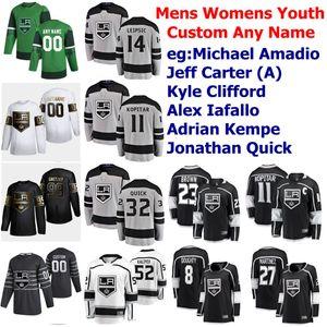 Los Angeles Kings Hockey Jersey Quinton Byfield Jersey Jonathan Quick Anze Kopitar Dustin Brown Alec Martinez Drew Doughty Custom Stitched
