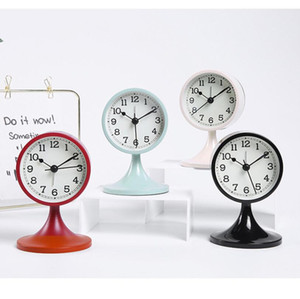 Retro Desk Electric Table Alarm Clock Desktop Watch Creative Xmas Gifts Travel Timer Numerals Display Round Shape For Home decoration