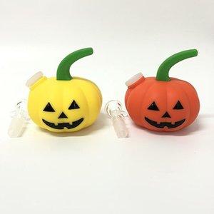 NUOVO Pumpkin-Shape fumare narghilè tubo di acqua Bong Halloween Shisha Tubo con ciotola di vetro VS Twisty Glass Blunt Bowl