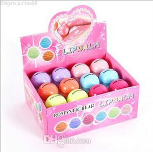 Cute Round Ball Lip Balm 3D Lipbalm Fruit Flavor Lip Smacker Natural Moisturizing Lips Care Balm Lipstick