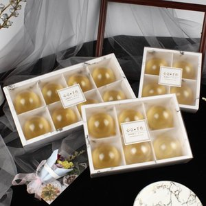 Transparent Frosted Cake Boxes Mooncake Cake Pack Packaging Box Dessert Macarons Boxes Pastry Packaging Boxes EEC2466