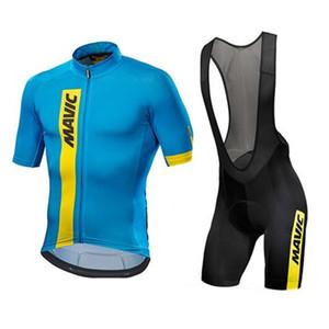 2020 Рубашки Mavic Команды Мужчины Велоспорт Джерси лето дышащих велосипеды Биб шорты костюм MTB велосипед Эпикировка Quick Dry Sports Uniform Y20092401