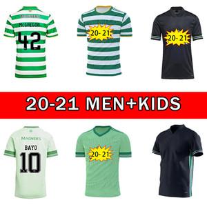 20 21 21 Celtic FC Soccer Jerseys McGregor Griffiths 2020 2021 Klimala Forrest Brown Christie Edouard Bayo Home Men Bambini Camicie da calcio