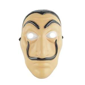 Plastic Dali Mask Paper House La Casa De Papel Cosplay Decoration Masquerade Halloween Funny Tools
