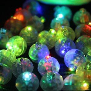 100Pcs lot Color Round Mini Led RGB Flash Ball Lamp Lantern Balloon Lights For New Year Deco Christmas Wedding Party Decoration 200929