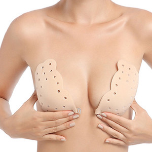 Nipple Cover Sexy Lingerie Women Push Up Wing Silicone Bra Self Adhesive Seamless Bralette Strapless Front Buckle Invisible Bras