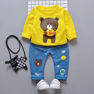 Infantil Baby Boys Suits Newborn Clothing Set Kids Letter Tracksuit Tops Pants Children Spring Boys Outfits Girls sets LJ201203