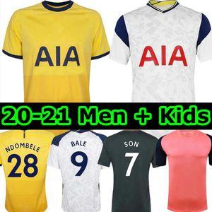 20 21 # 9 BALE REGUILON Futebol KANE SON Bergwijn NDOMBELE 2020 2021 camisa LUCAS DELE TOTTENHAM Football LO CELSO home homens + KIDS KIT