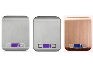 Il cibo Digital Kitchen Scale Peso grammi e Oz per cottura e la cucina, in acciaio inossidabile Display LCD Misura Strumenti OWE1151