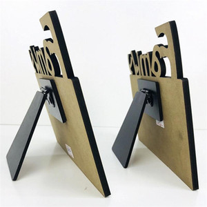 Woodiness Sublimation Blank Frames MDF DIY Three Dimensional Hollowing Out Blank Slate Letter Shape Laser Cutting Home Accessory GWC6039