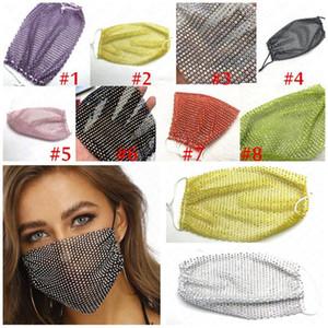 Strass Bling del partito della mascherina del partito vuoto di cristallo Masquerade viso gioielli Maschera 2020 maschere di nuovo stile del partito strass per le donne