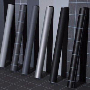 Solide Matte Cuisine Armoire Cabinet autocollantesNous Papier peint Rouleau Meubles Stickers muraux PVC bricolage décoratif contacter avec le papier