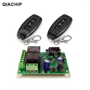 QIACHIP 433MHZ 범용 DC 6V 12V 24V 2CH 무선 스마트 원격 제어 스위치 수신기 모듈 램프 모터 용 송신기