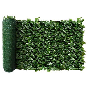 Fence Wall Decoration Artificial Green Leaves Can Stretch Privacy Fence Screen Plant Leaves, Suitable for Home, Garden