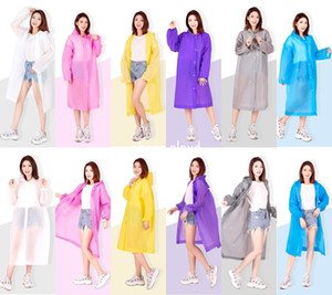 EVA Outdoor Travel Fashion Environmental Friendly Light Thickened Raincoats For Adults Factory Wholesale 5 Colors 2 Style