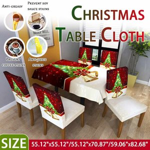 Styles 2 of Tablecloths and Chair Covers Waterproof Bells   Gift Print Rectangular Table Cover Christmas 0QBI