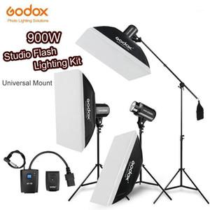 900WS Godox Strobe Studio Flaş Işık Kiti 900W - Fotoğraf Aydınlatma - Strobes, Işık Standları, Tetikleyiciler, Yumuşak Kutu, Boom Arm1