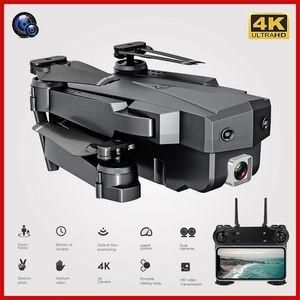 Wi-Fi RC Drone 4K 1080P HD Dual Camera Dron Оптический поток Воздушная складная Quadcopter FPV Дроны Длинные Живые игрушки для детей для детей