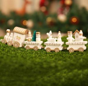 Joyeux Enfants en bois Train de Noël Cadeaux de Noël Décoration pour la maison Petit Train PopularDecor Ornements de cadeau de Noël pour les enfants AHF2136