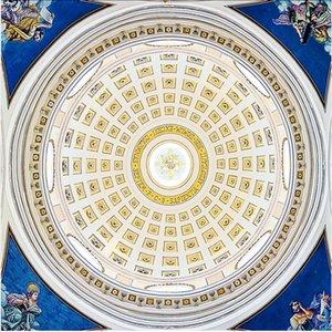 European luxury round ceiling 3d murals wallpaper for living room 3d ceilings