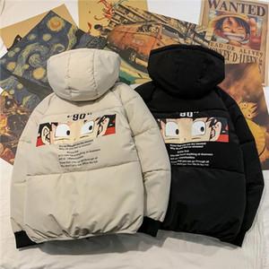 Oversize Women Coat Winter Korean Clothes Loose Cartoon Print Women Parkas Hooded Thick Warm Harajuku Down Jacket Womens Coat