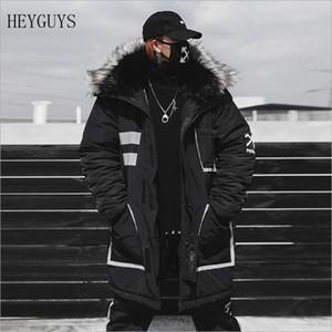 NAGRI Winter Warm New Men's Cotton Clothing Fashion Hip Hop Thick Warm Cotton Jacket Large Size Warm Coat US Size S M L XL XXL 201028