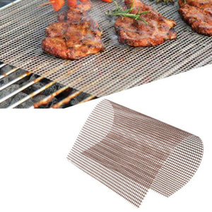 BBQ Grill Mat Non-stick Mesh BBQ Pad Barbecue Grilling Baking Mat Cooking Plate For Party Grill Mat Tools EWA3301