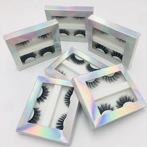 Nouveaux 2 paires / boxed naturel Cils Faux réutilisable Mink cheveux épais cils femmes Outils de maquillage des yeux à la main Cils Faux 3D en gros