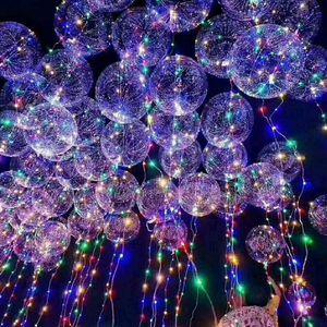 wave novo balão levou tira luzes com tiras de LED bola bateria bobo Circular for Wedding Party Halloween Natal decoração de casa