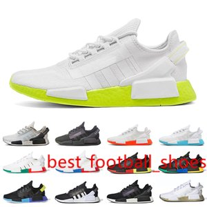 Newest r1 v2 running shoes for Women Men Bright Volt Red Blue Core White Oreo Womens Mens hot sale comfortable sneakers trainers shoes