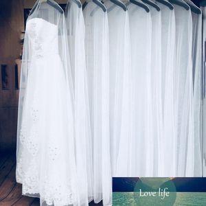Cubiertas 1PC 160 / 180cm a prueba de polvo del vestido de novia vestido de novia bolsas de almacenamiento de ropa protector para la ropa cubierta transparente Armario Caso