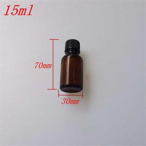 검은 색 플라스틱 일반적인 스크류 캡 DIY (15)와 10 개 30x70 mm 갈색 유리 에센셜 오일 병은 컨테이너 봉인 된 빈 ㎖로