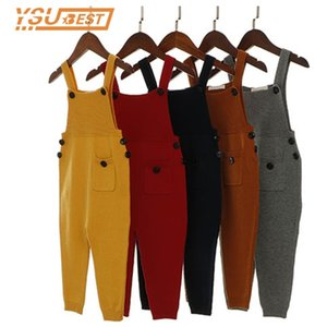 2019 New Children Kids Harem Pants Boys Pocket Knitted Overalls Baby Clothing Jumpsuits Girls Overall Y200704