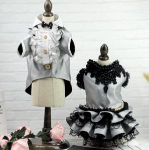 vestido de novia vestido de mascota perro malla 2020 nueva moda para mascotas vestido de envío libre 040893