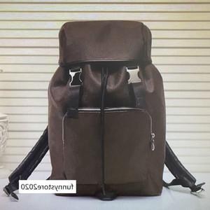 M43422 Zack mochila de couro homens viajar malas mochilas capa de moda amarrar corda mochila grande capacidade de alpinismo esporte hasp saco
