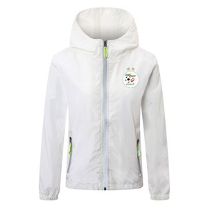 2020 2021 Algerien Nationalmannschaft Fußballjacke Reißverschluss Windjacke Männer-Fußball Jerseys Fußball Hoodie Lichtgevende Jackenmantel Laufjacken