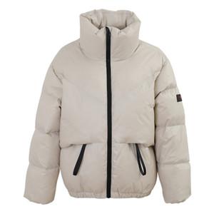 2020 Winter Oversized Bubble Coat Women Stand Collar White Duck Down Jackets Long Sleeve Warm Outwear Femal Short Parka