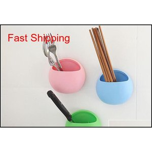 Bathroom Storage Holders Home Bathroom Toothbrush Toothpaste Wall Mount Holder Sucker Suction Organizer Cup R qylEcu yh_pack