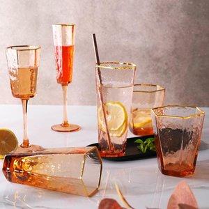 Champagne or martelée Glasswhisky Rim Or Verre d'eau concernant les créations d'alimentation Vin Discount Creative bbypmX Quvck