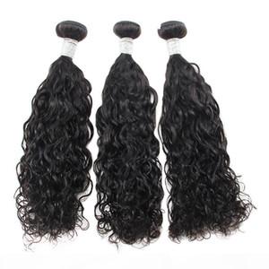 Nami Hair Brazilian Virgin Hair Weaves Water Wave 3 Bundles 100% Human Hair Extensions Natural Color