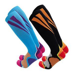 Compression Stocking Men Women Knee High Socks Running Pressure Sports Circulation Athletic Varicose Veins Travel Socks