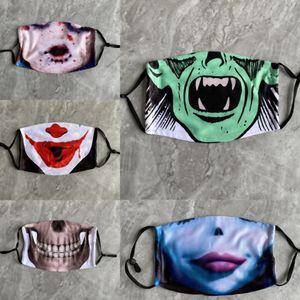 ZS5HE Trucco antipolvere uomo clown halloween ins-orsality maschio moda partito factoryhigh grade zucca zucca spoof maschere maschere