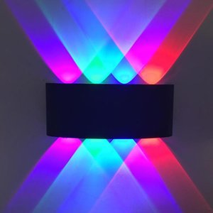 Modern Triangle Design 5W 8W LED Wall Lamp AC85-265V LED Modern Home Lighting Indoor Party Ball Disco Light Fixtures
