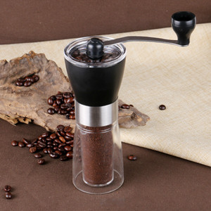 Portable Manual Coffee Grinder Continuous Ceramic Burr Grinder for Home Office Traveling Washable Coffee Mill Easy Cleaning Free Shipping