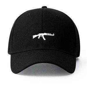 2020 US Fashion Ak47 Snapback Hip Hop Cap Top Selling Uzi Gun Baseball Capp Curve Visor 6 Panel Hat Casquette De Marque LJ200922